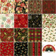 Henry Glass Assortment Winter Garden 16pcs x 10yds By Color Principle Studio  - 100% Cotton, 44/45in