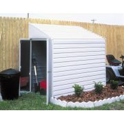Arrow Shed Yardsaver 4 x 10 ft. Shed - The Arrow Shed Yardsaver 4 x 10 ft. Shed offers spacious external storage that doesn't absorb your whole yard. This versatile lean-to steel storage. Steel Storage Sheds, Storage Shed Kits, Steel Sheds, Outdoor Storage Sheds, Outdoor Sheds, Backyard Storage, Backyard Pergola, Outdoor Toys, Pergola Ideas