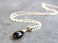 Black Spinel Necklace Stone Teardrop Sterling Silver Pendant Drop Faceted by AeridesDesigns on Etsy https://www.etsy.com/listing/275695736/black-spinel-necklace-stone-teardrop