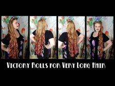 Victory Rolls for Very Long Hair