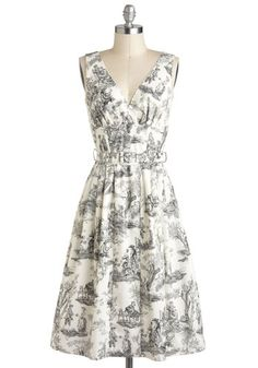 Bygone Days Dress in Skeleton Toile, This is one of my favorite fabrics. Would love this dress but alas, I wouldn't want to pay the price.