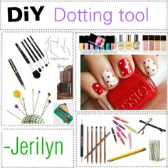 Diy Dotting Tool, created by everythingg on Polyvore