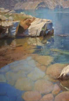 """October's Superb Pastels: Bill Cone, """"Iceberg Shore,"""" pastel on paper, 20 x 14 in"""