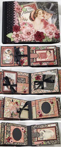 Graphic 45 Mon Amour scrapbook Mini Album www.ebay.com/...
