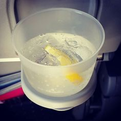 Small little #GnT to smooth the bumps out.#Latergram #booze #flying