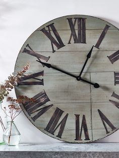 NEW Wooden Wall Clock - Dusky Sage - NEW FOR SPRING - Indoor Living