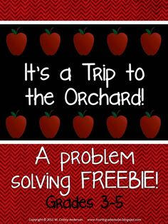 """Based on a """"real life"""" math blog post, this freebie gives you the photographs of the store at an apple orchard and the task of spending $20! Multiple solutions and a """"challenge"""" page as well!"""