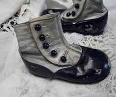 antique child high button shoes