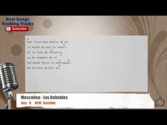 Mescalina - Los Rebeldes Vocal Backing Track with chords and lyrics