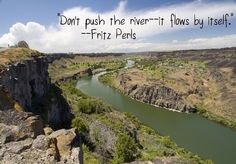 Don't push the river - it flows by itself. | Fritz Perls Picture Quotes | Quoteswave