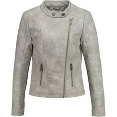Buy Light Slate Gray Object Leather jacket for woman at best price. Compare Jackets prices from online stores like Zalando - Wossel United States Motorcycle Jacket, Jackets For Women, Leather Jacket, Boho, Grey, Sweatshirts, Sweaters, Fashion, Jackets