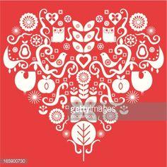 folk valentines - Google Search