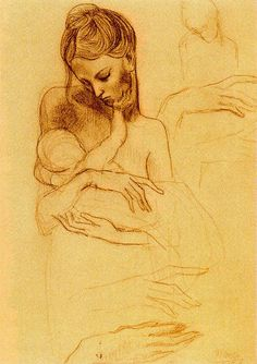 Mother and Child - Pablo Picasso - I was just talking to my girls about when they were babies last night. :( How I miss those days.