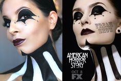 American Horror Story: FreakShow Halloween Makeup Tutorial See special promotions on makeup, skin care, bath & body, jewelry, and more. See the SALES here! Interesting in joining millions of women worldwide? Get More Information Here Video Rating: / Last Minute Halloween Costumes, Halloween Carnival, Halloween Make Up, Halloween 2017, Halloween Ideas, American Horror Story Costumes, American Horror Story Freak, Drugstore Mascara, Best Mascara