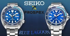 Seiko Prospex Blue Lagoon Watches Available At Timeless Luxury Watches. Some serious tool watches, built and priced to see real-world use. Get to know about them and more on our website...  Read about it here: http://www.ablogtowatch.com/seiko-prospex-blue-lagoon-turtle-samurai-timeless-luxury-watches/
