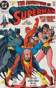 Superman meets Superwoman Superboy and Wonder Warrior in