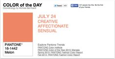 APPart – Mobile Art – Pantone Color of the Day – 'Melon' – TheAppWhisperer