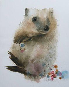 "Saatchi Art Artiste Marie-Helene Stokkink;  Peinture, ""La magie secrète du Hedge-Hog"" #art"