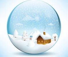 Christmas crystal ball with winter vector 12 Vector Christmas, Crystal Ball, Vector File, Snow Globes, Crystals, Free, Home Decor, Snowball, Pictures