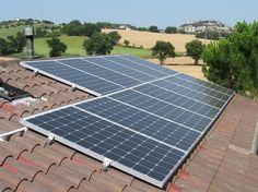 Impianto fotovoltaico ad OSIMO da 3,00 kWp su copertura - 12 moduli ALEO in SILICIO CRISTALLINO da 240 Wp