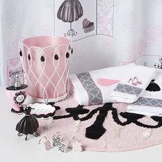 This Would Be So Cute For A Girls Bathroom French Decor - Bathroom accessories for girls