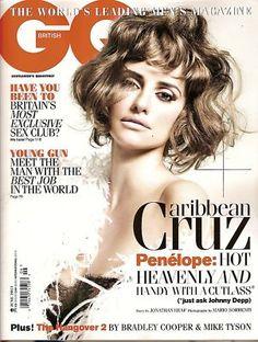 UK GQ Magazine,Penelope Cruz, Olivia Wilde,Hugh Laurie,Wayne Rooney,Favreau,June 2011~NEW