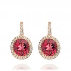 I love this 18 karat rose gold pink tourmaline and diamond earrings from astleyclarke.com
