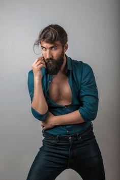 Erkek stüdyo portre