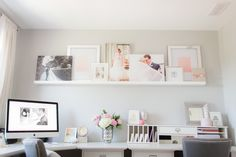 Pink & Gray Home Office