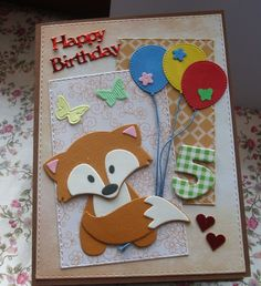 Marianne Vos, Marianne Design, Hapoy Birthday, Fall Birthday, Kids Cards, Birthday Cards, Muffins, Kittens, Scrap