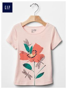 Embellished spring graphic tee