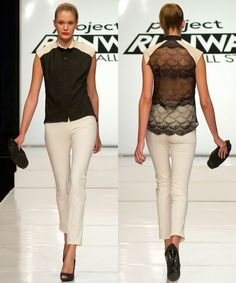 Project Runway All Stars, open back lace shirt