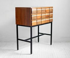 Vintage Wood Card Catalog - Library, File, Storage, Drawer, Cabinet ($495.00) - Svpply