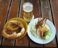 Obatzter Bavarian Cheese Specialty- or also called Obatzda or Obazda, which means squeeze or mashed, is a popular Bavarian snack together with some beer.
