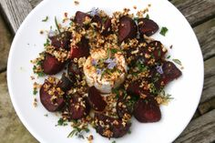 ... Beets with Goats Cheese and Rosemary Cauliflower 'Bread' Crumbs