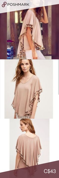 Anthropologie Boho Chic Tassel Top Taupe NWT XL BNWT brand new with tags Taupe tan color shirt Tasseled dolman blouse Women's size extra large Rayon, spandex Machine wash length Tote 12 Eri + Ali for Anthro Anthropologie Tops Tees - Short Sleeve Plus Fashion, Fashion Tips, Fashion Design, Fashion Trends, Dolman Top, Boho Tops, Clothes For Sale, Blouses For Women, Boho Chic