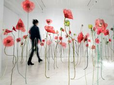 Jannick Deslauriers / From the Battlefield series: Poppies. 2008- 2009. textile installation
