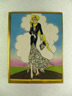 Vintage La Mode Art Deco Design Swiss Candy Tin Box with Slide Lid (#1) | eBay