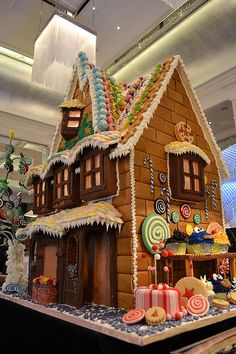 Gingerbread House by TheLanghamLondon. Digging on the Cookie Monster cupcake, too. :)