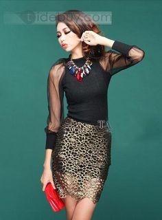 Fascinating Hollow Slim Sheer Lace Skirt : Tidebuy.com