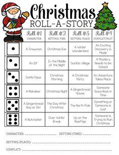 Christmas Roll-a-Story FREEBIE!!