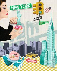 New York Art Print by Emillie Capman at Art.com