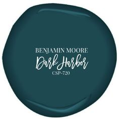 Benjamin Moore's Dark Harbor paint, color for built ins: casing, shelves, and wall all monochrome paint colors Dark Harbor