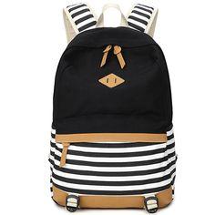 XQXA preppy school bags backpack for girls teenagers cute canvas striped  printing women backpack bag Female escolar mochilas 2f9ac22d8a