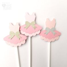 Ballerina Cupcake Toppers Ballet Tutu shape. Baby shower or birthday party, handmade custom decorations by MyPaperPlanet