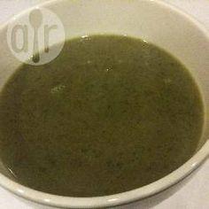 Sopa simples de agrião