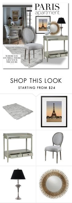 Home by vkmd on Polyvore featuring interior, interiors, interior design, home, home decor, interior decorating, Safavieh, Padma's Plantation, Universal Lighting and Decor and parisapartment