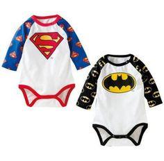 Baby Superman / Batman Cartoon Bodysuit  Romper Jumpsuit, Funny Baby Boy  #Unbranded #Everyday