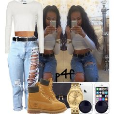 Passion 4Fashion: She Hit The Floor by shygurl1 on Polyvore featuring polyvore fashion style Topshop Timberland Warehouse Bulova The Row H&M