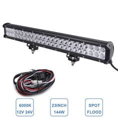 66.44$  Watch more here - http://ai18z.worlditems.win/all/product.php?id=32635974908 - 23'' 144W Offroad LED Light Bar 4WD 4x4 Truck SUV ATV AUTO Tractor Pickup AWD Driving Headlight 12V 24V Car Boat Wagon AWD Lamp